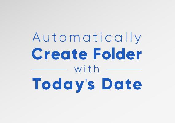 Automatorを使って「今日の日付フォルダ」を、選択したフォルダに作成する方法