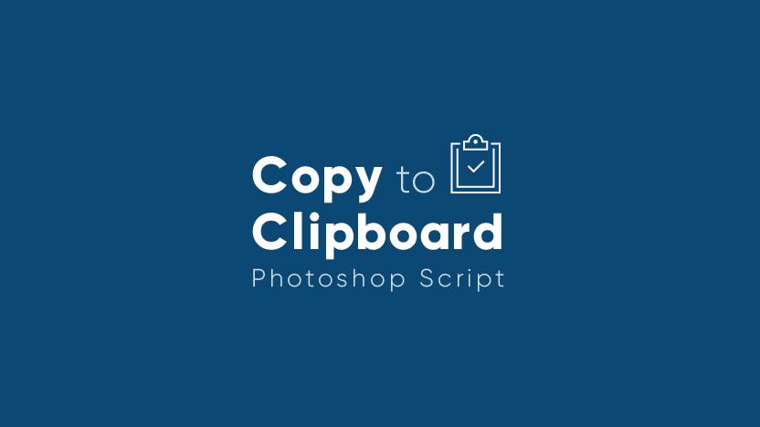 [Photoshop]レイヤーを選択するだけでテキストレイヤーの内容をクリップボードにコピーできるスクリプト